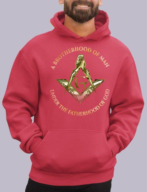 A Brotherhood of Man Masonic Hoodie 1 a bro of man red hoodie