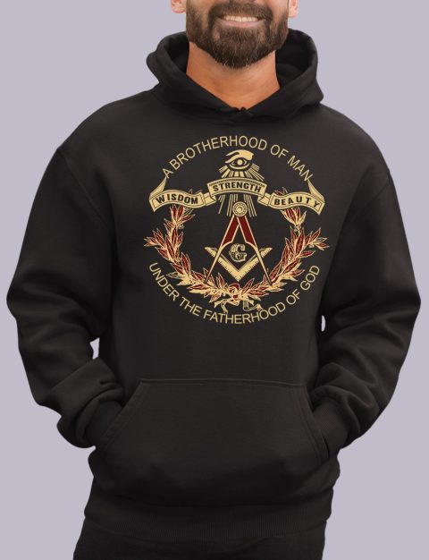 A Brotherhood of Man Masonic Hoodie a brotherhood black hoodie