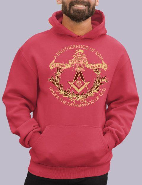 A Brotherhood of Man Masonic Hoodie a brotherhood red hoodie