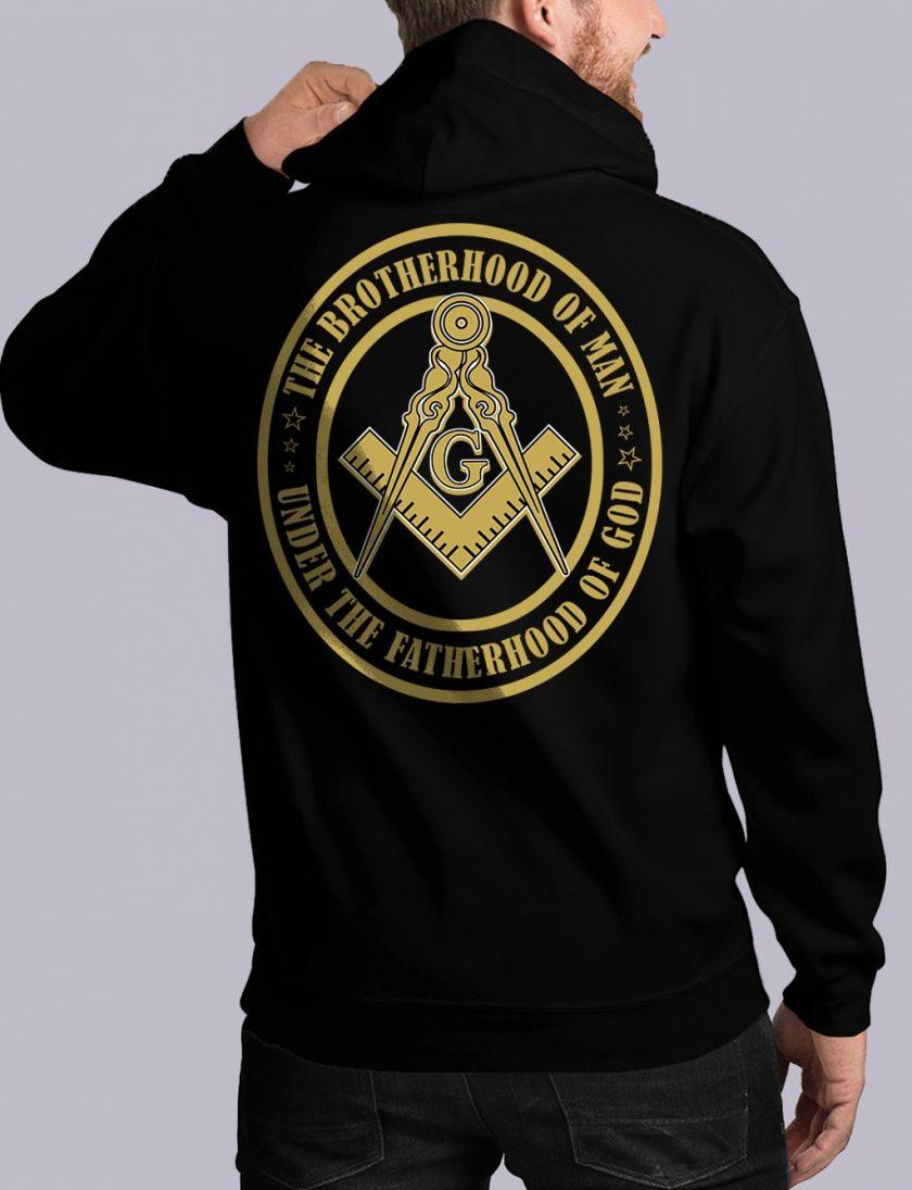 bros of man back black hoodie 1