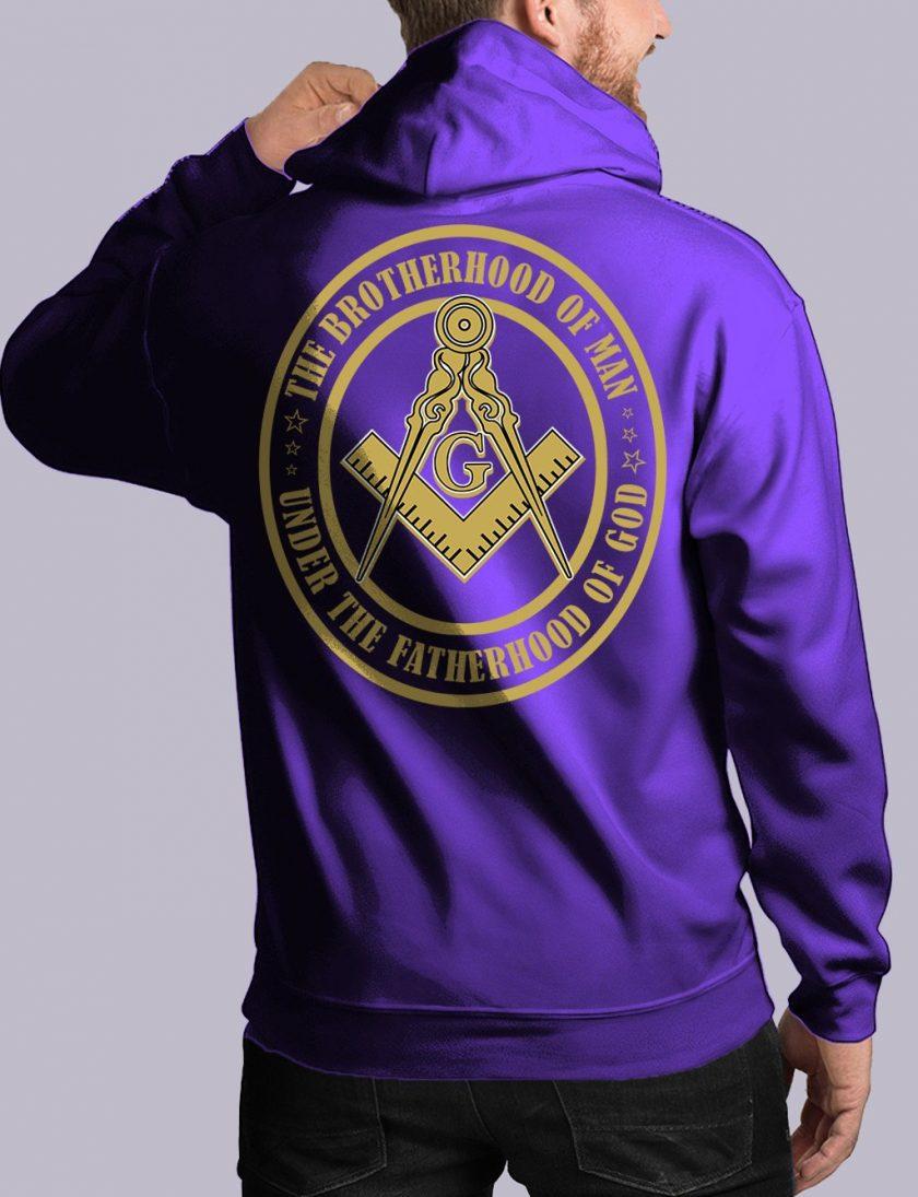 bros of man back purple hoodie