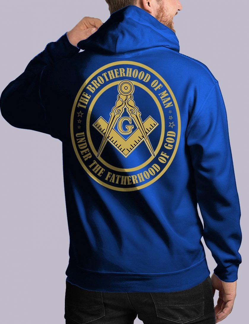 bros of man back royal hoodie