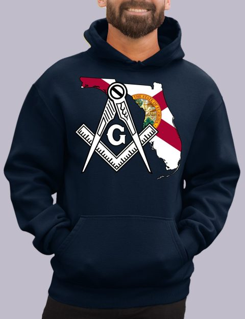 Florida Masonic Hoodie florida navy hoodie