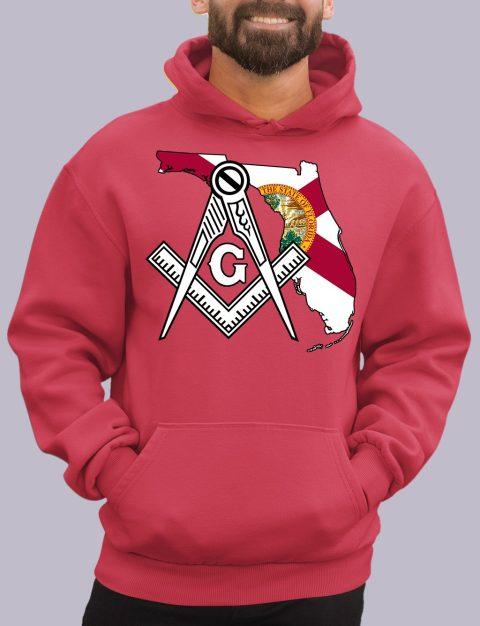 Florida Masonic Hoodie florida red hoodie