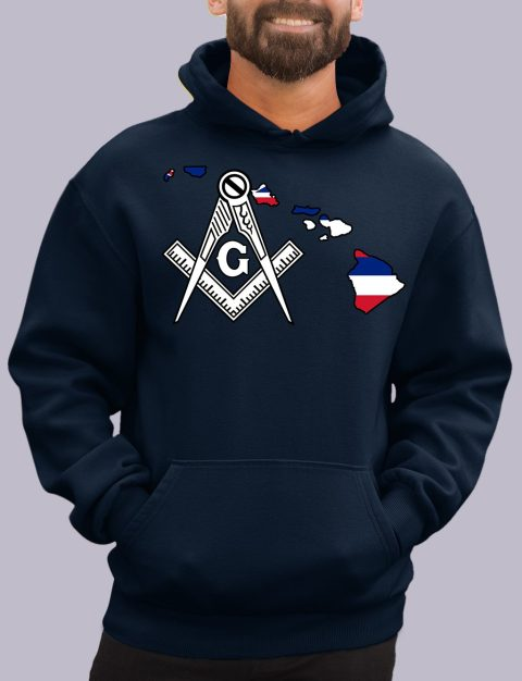 Hawaii Masonic Hoodie hawaii navy hoodie