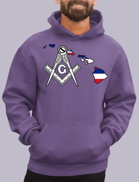 Hawaii Masonic Hoodie hawaii purple hoodie