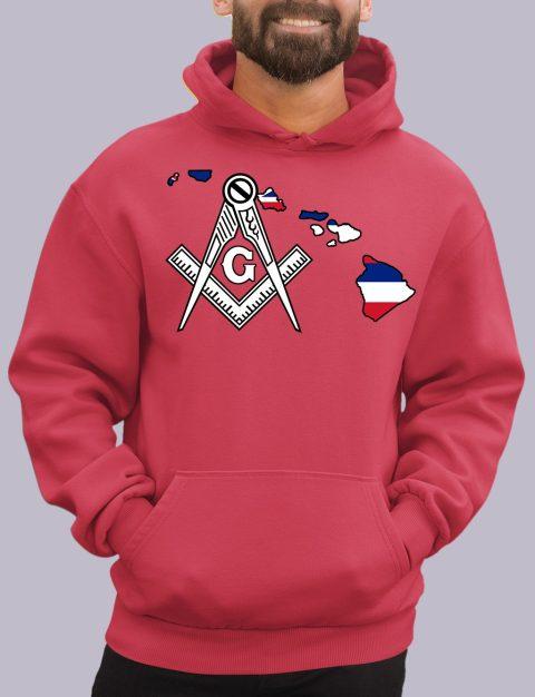 Hawaii Masonic Hoodie hawaii red hoodie