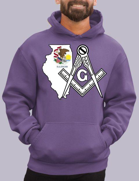Illinois Masonic Hoodie illinois purple hoodie