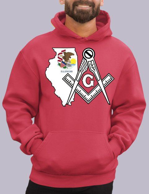 Illinois Masonic Hoodie illinois red hoodie