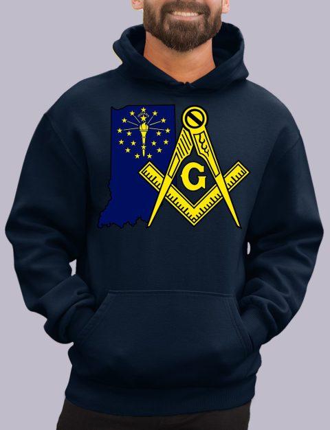 Indiana Masonic Hoodie indiana navy hoodie