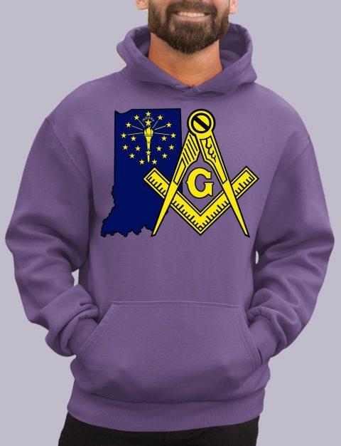 Indiana Masonic Hoodie indiana purple hoodie
