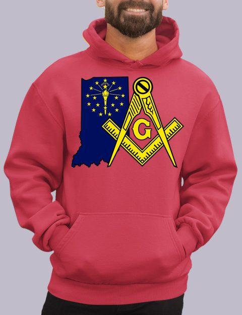 Indiana Masonic Hoodie indiana red hoodie