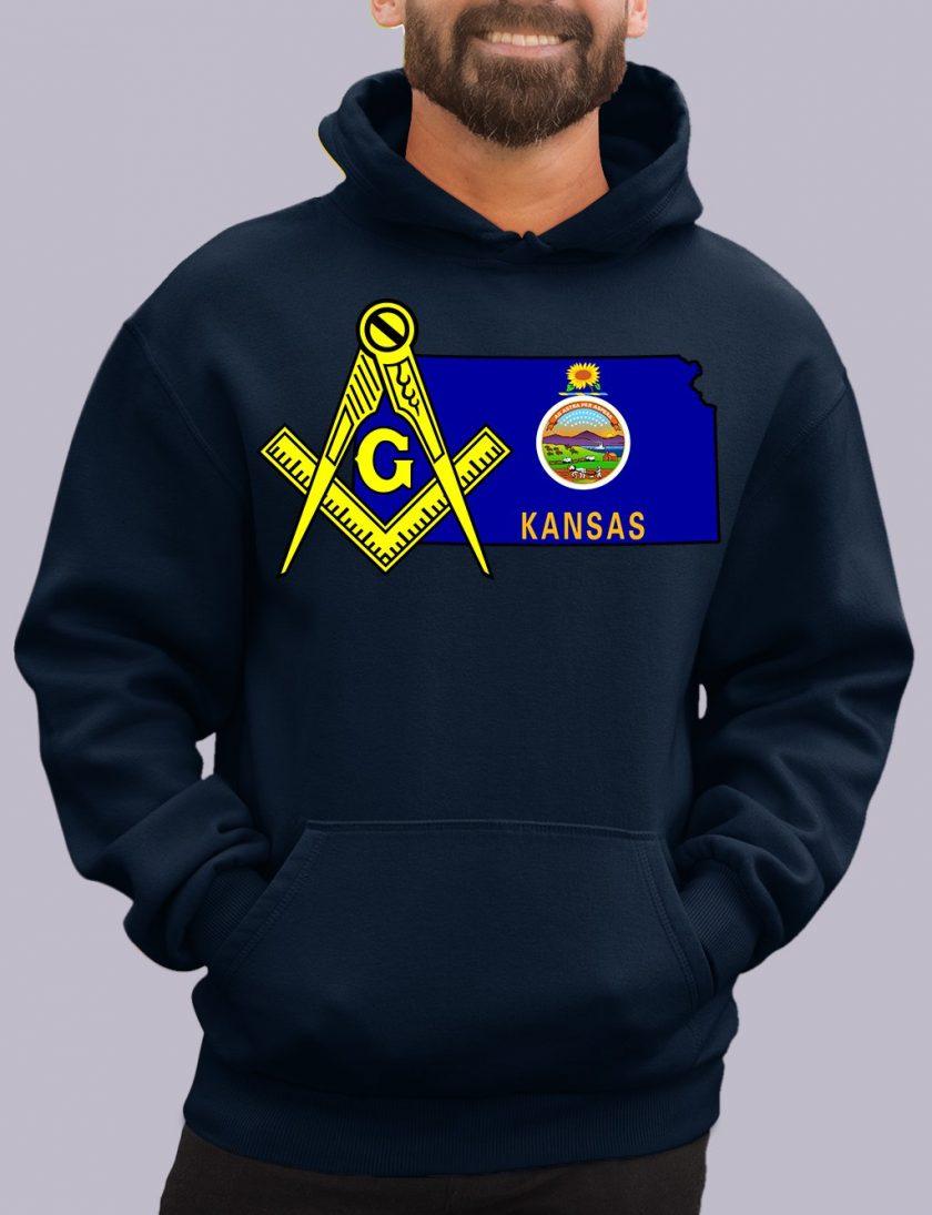 kansas navy hoodie