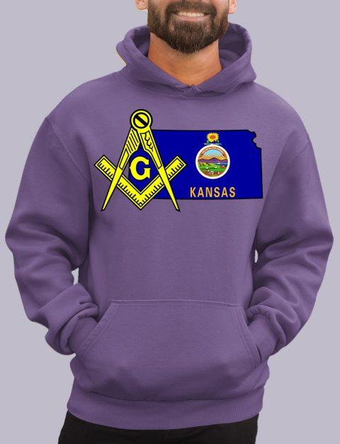 Kansas Masonic Hoodie kansas purple hoodie