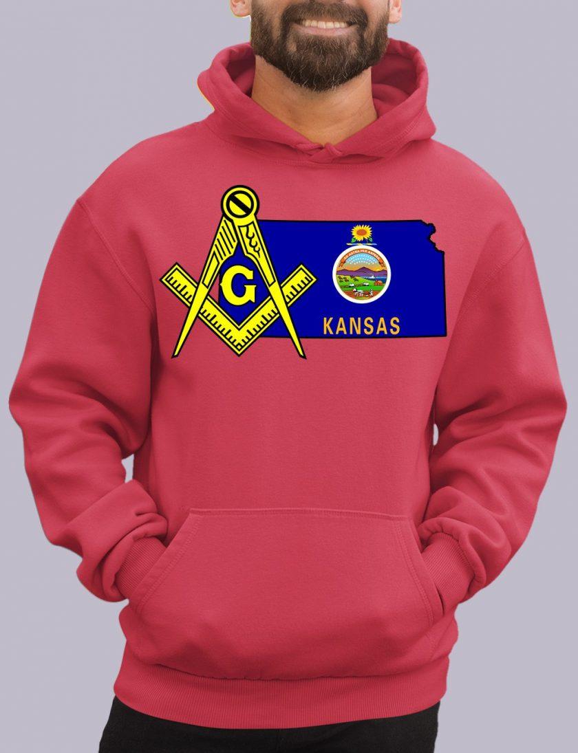 kansas red hoodie