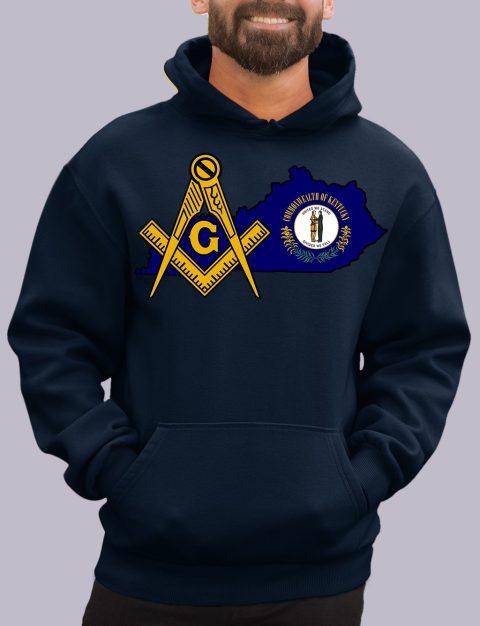 Kentucky Masonic Hoodie kentucky navy hoodie