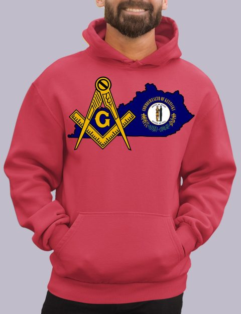 Kentucky Masonic Hoodie kentucky red hoodie