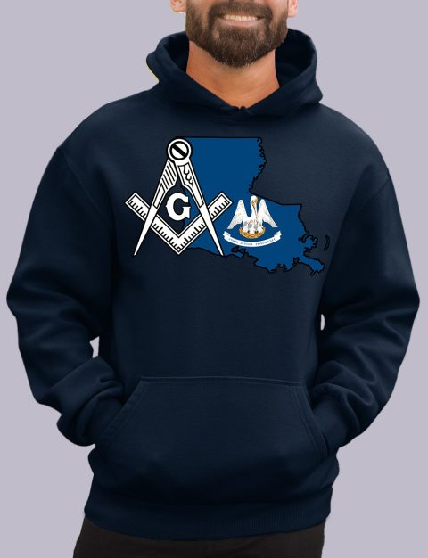 Louisiana Masonic Hoodie louisiana navy hoodie