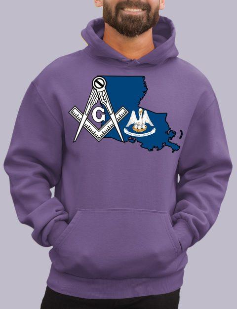 Louisiana Masonic Hoodie louisiana purple hoodie