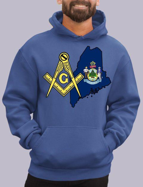 Maine Masonic Hoodie maine royal hoodie