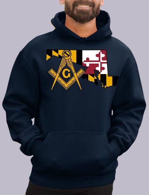 Maryland Masonic Hoodie maryland navy hoodie