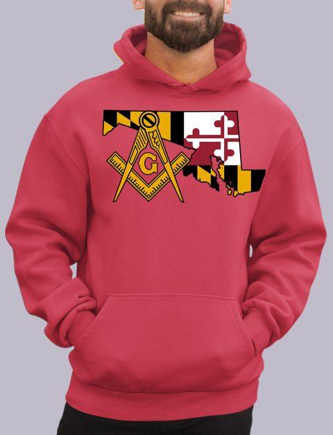 Maryland Masonic Hoodie maryland red hoodie