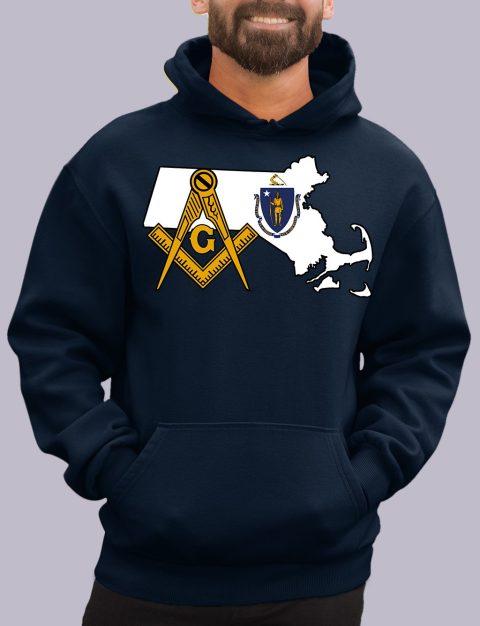 Massachusetts Masonic Hoodie massachuset navy hoodie