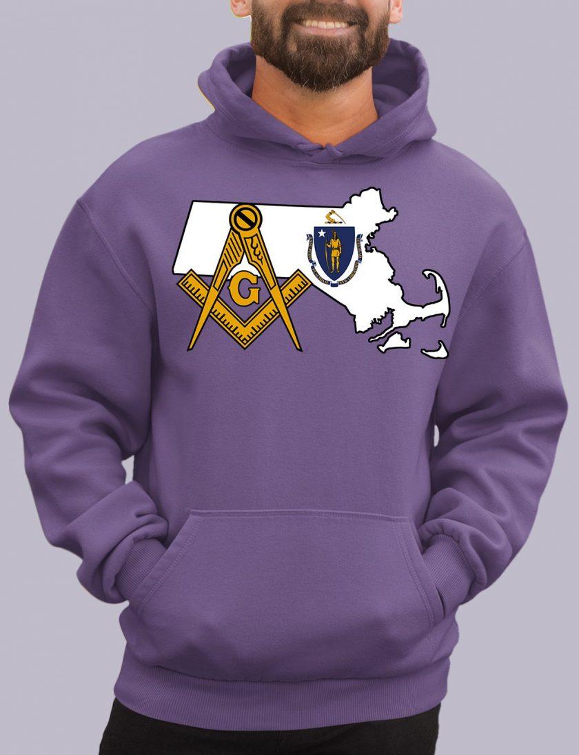 massachuset purple hoodie