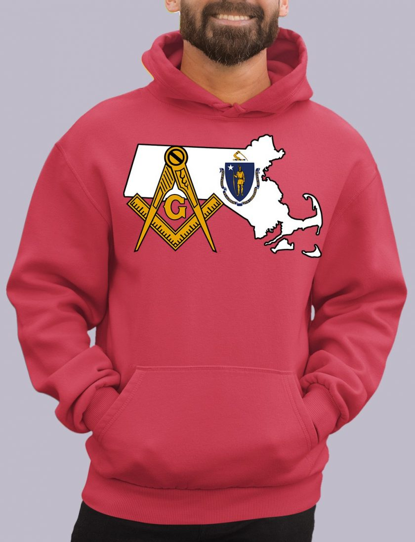 massachuset red hoodie