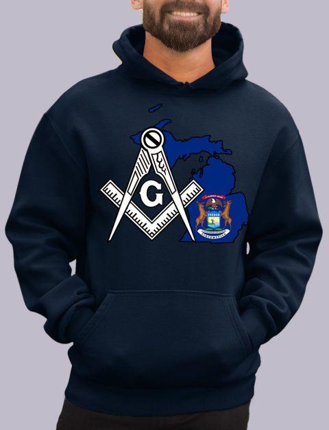 Michigan Masonic Hoodie michigan navy hoodie