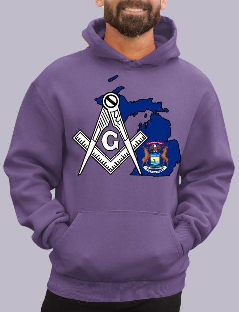 Michigan Masonic Hoodie michigan purple hoodie