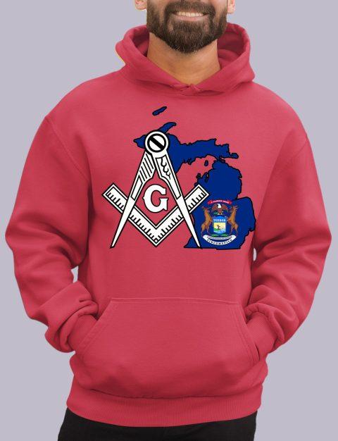 Michigan Masonic Hoodie michigan red hoodie