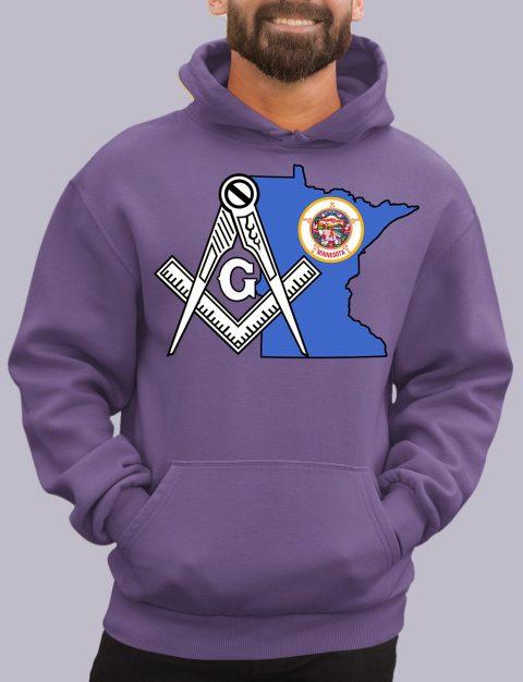 Minnesota Masonic Hoodie minessota purple hoodie