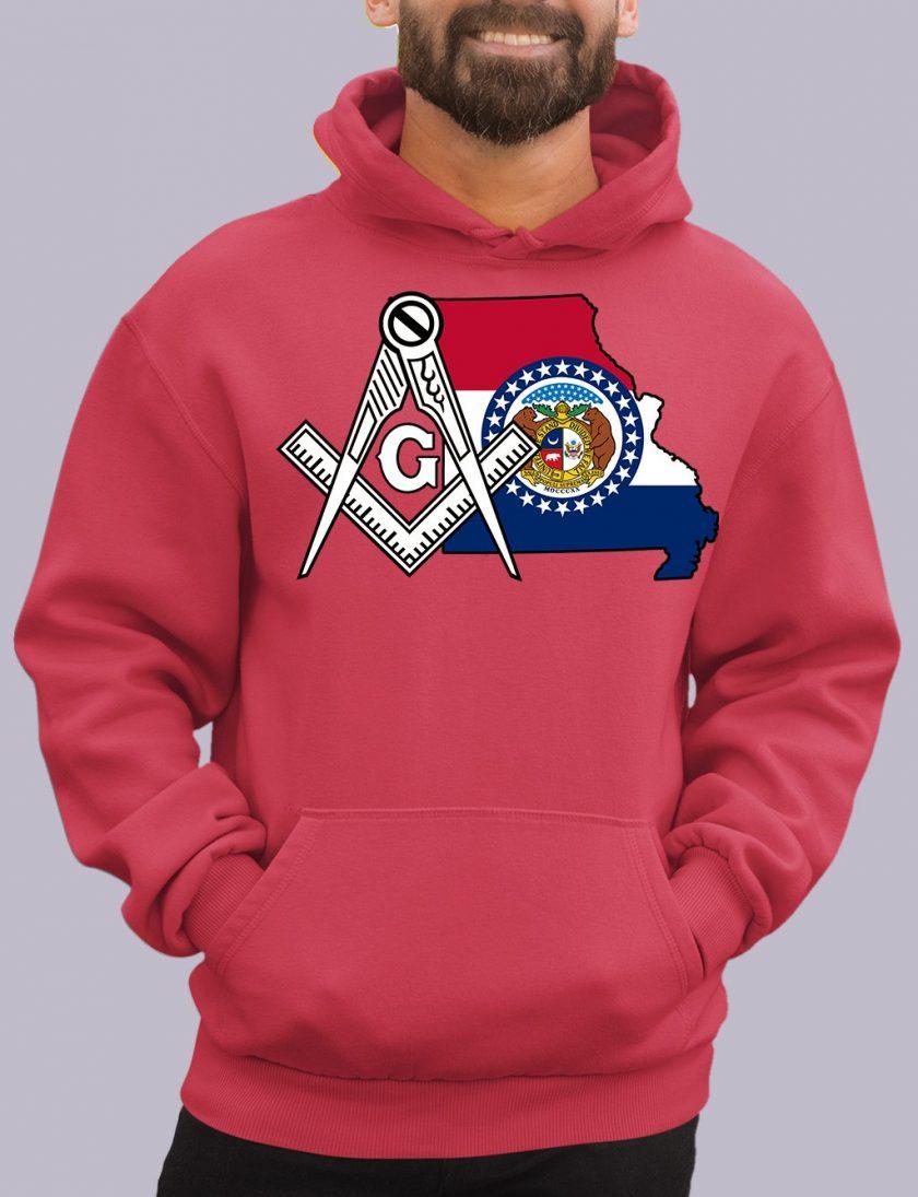 missiouri red hoodie