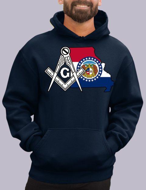 Missouri Masonic Hoodie missouri navy hoodie