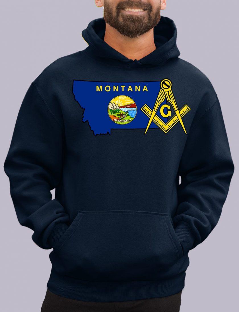 montana navy hoodie