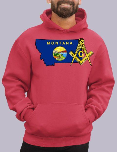 Montana Masonic Hoodie montana red hoodie