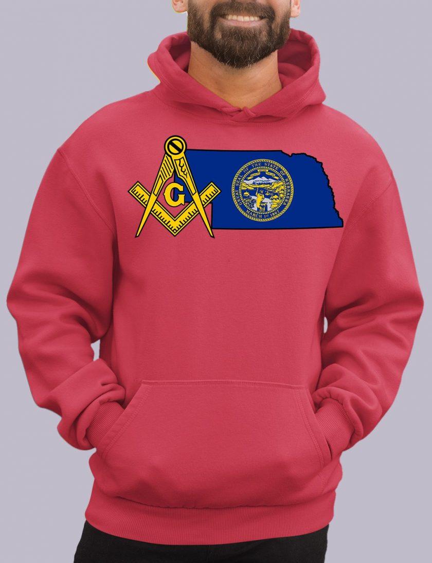 nebraka red hoodie