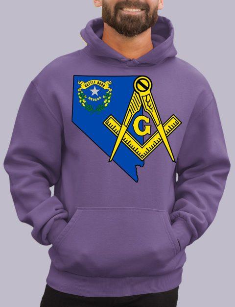 Nevada Masonic Hoodie nevada purple hoodie