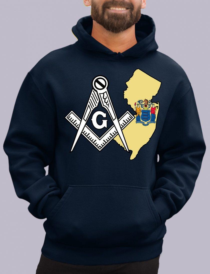 new jersey navy hoodie