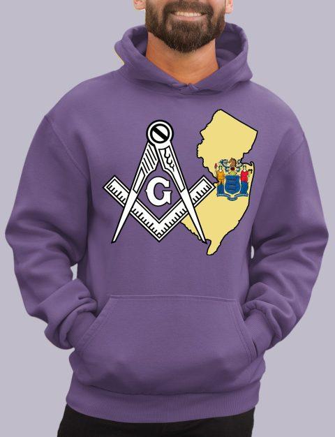 New Jersey Masonic Hoodie new jersey purple hoodie