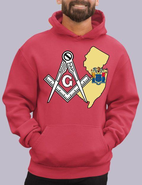 New Jersey Masonic Hoodie new jersey red hoodie