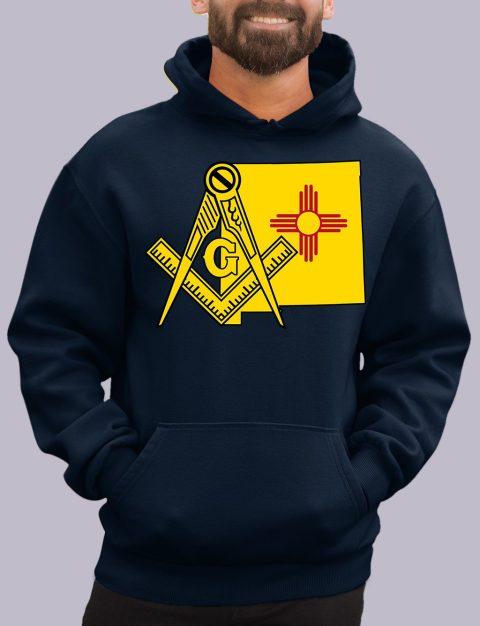 New Mexico Masonic Hoodie new mexico navy hoodie