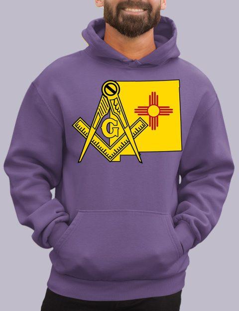 New Mexico Masonic Hoodie new mexico purple hoodie