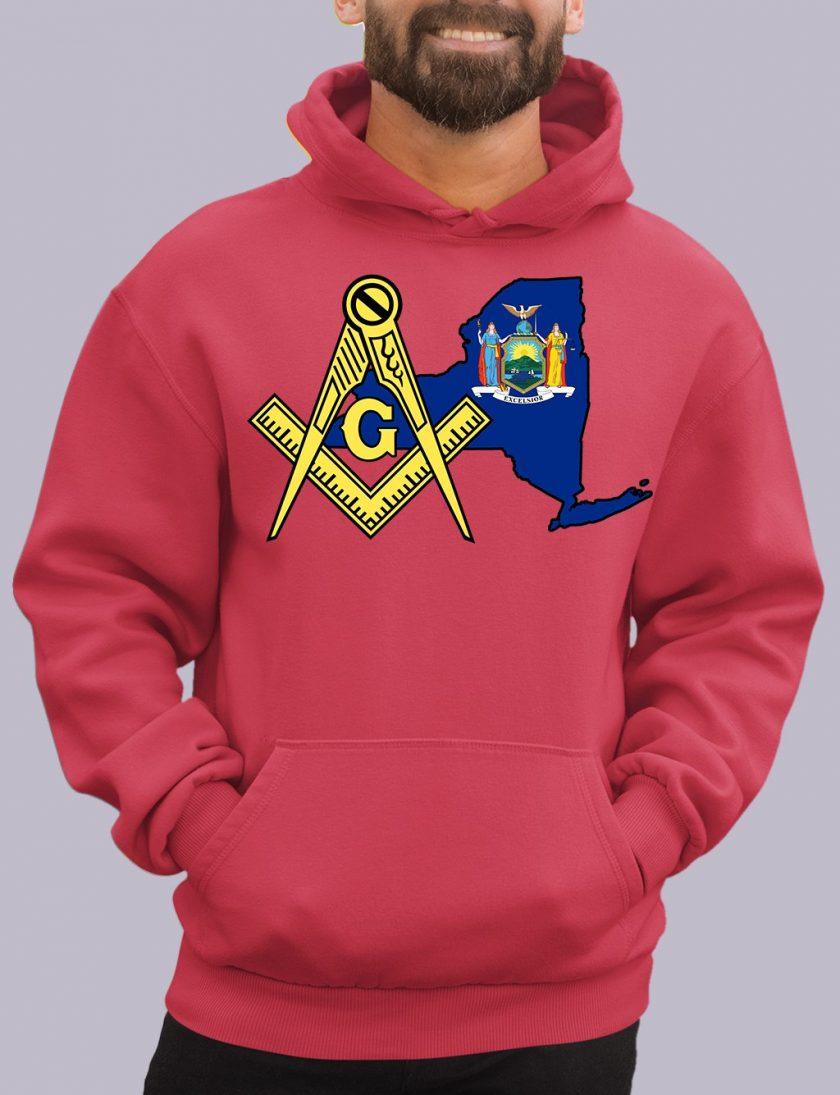 new york red hoodie