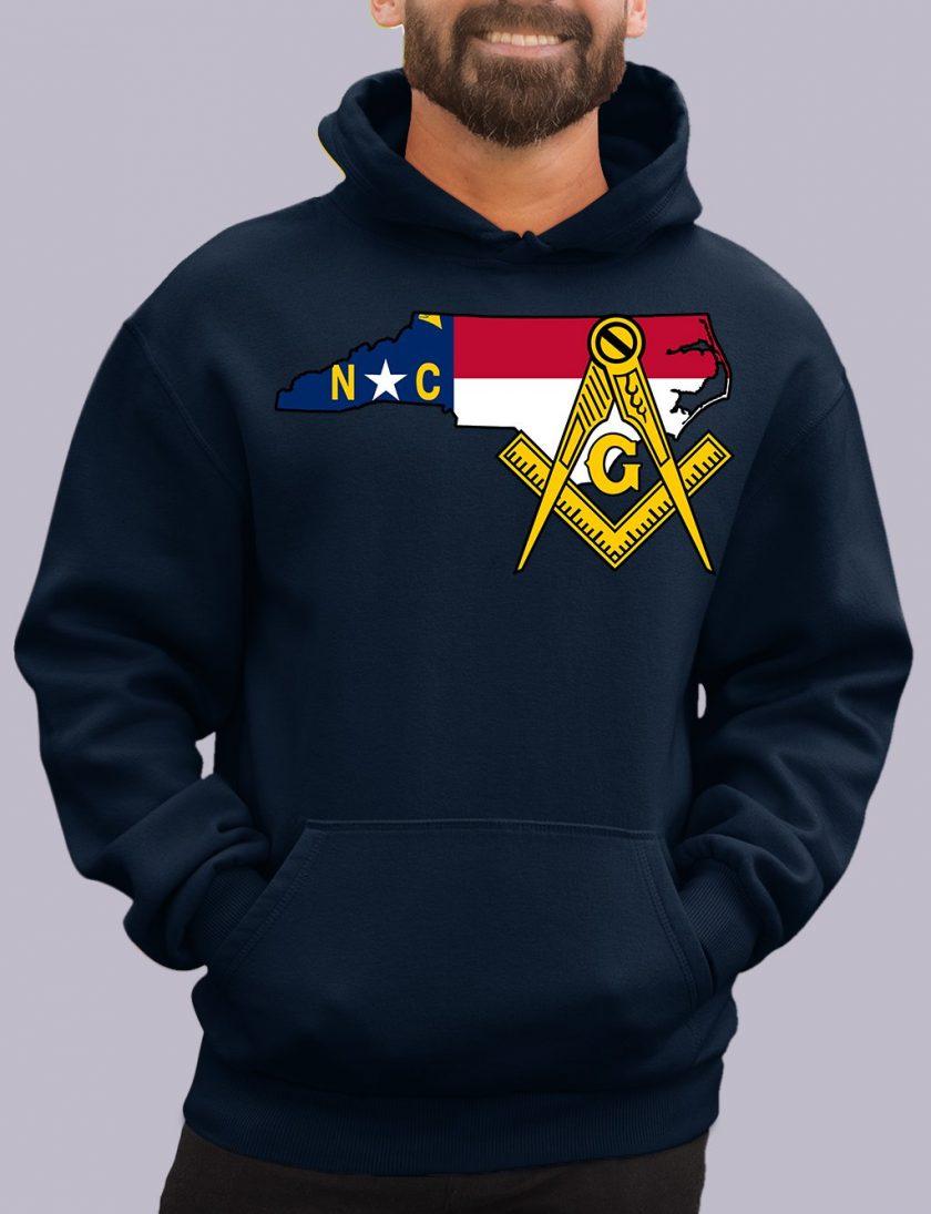 north carolina navy hoodie