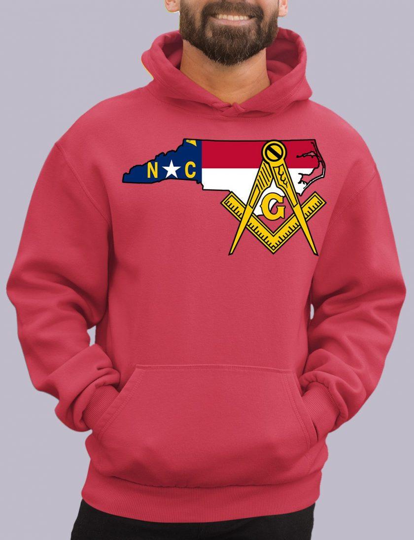 north carolina red hoodie