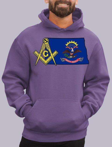 North Dakota Masonic Hoodie north dakota purple hoodie