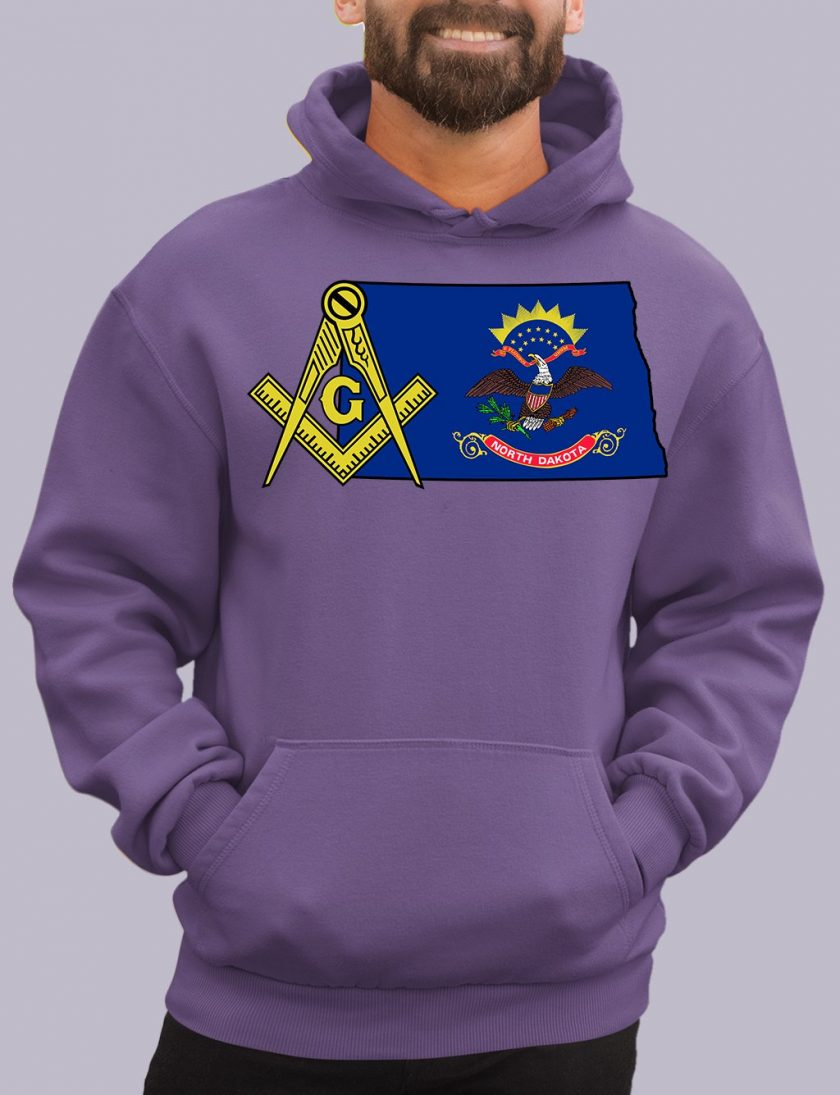 north dakota purple hoodie