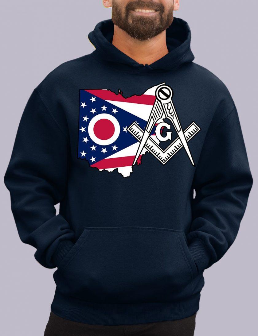 ohio navy hoodie